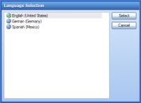 Language Selection Dialogs