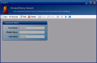 Maintenance Form Toolbar
